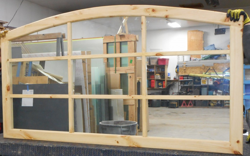 Yellow Pine headboard w/ mirror ~ Retails for $1500, on sale for $175