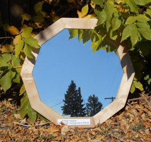 $45.00 ~ Maple Decagon framed mirror