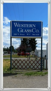 Western Glass sign