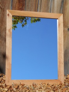 $55 ~ Oak framed mirror 24 x 30