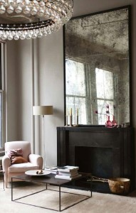 Antique mirror makes for a stunning statement piece in a sitting room...