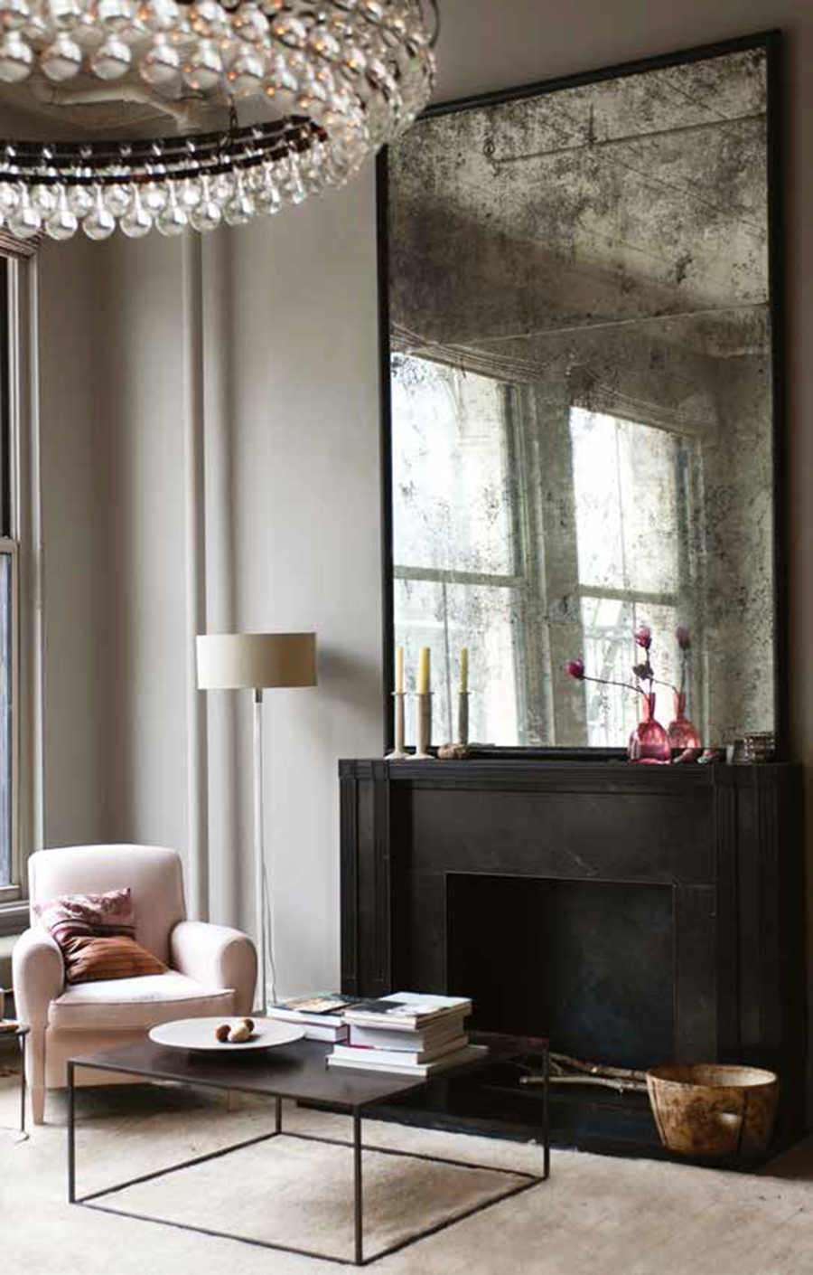 Antique Mirror Makes For A Stunning Statement Piece In Sitting Room